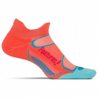 Feetures Elite / Light Cushion / No-Show Tab / Coral / Pink