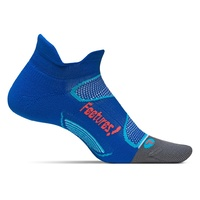Feetures! Elite / Light Cushioning / No-Show Tab / Cobalt / Lava