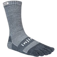 Injinji Outdoor / Merino Wool / Crew length / Charcoal