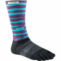 Injinji Womens Trail 2.0 / Crew Length / Midweight / Chalky