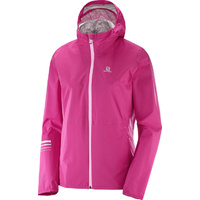 Salomon Lightning Waterproof Jacket / Pink Yarrow / Womens