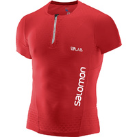 Salomon S-Lab EXO Half Zip SS T-Shirt / Racing Red / Mens