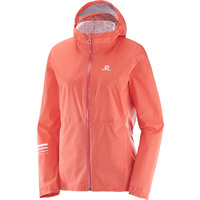 Salomon Lightning Waterproof Jacket / Fluro Coral / Womens