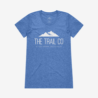 The Trail Co. Tri-blend Tee / Vintage Blue / Womens