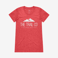The Trail Co. Tri-blend Tee / Vintage Red / Womens