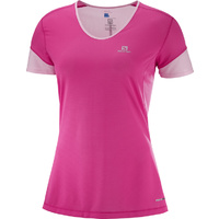 Salomon Trail Runner Tee / Pink Yarrow / Womens