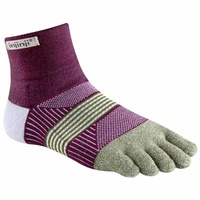 Injinji Womens Trail 2.0 / Mini-Crew Length / Midweight / Mulberry