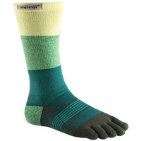 Injinji Womens Trail 2.0 / Crew Length / Midweight / Evergreen