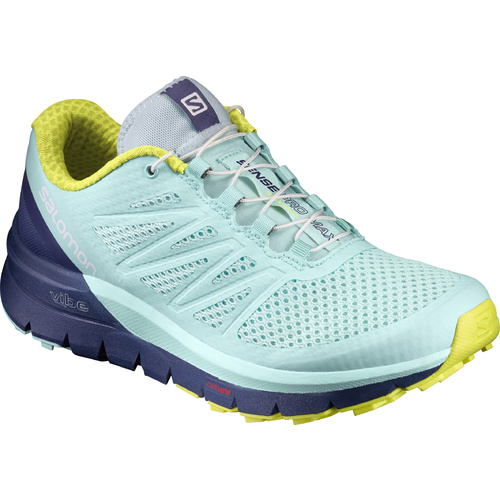 Salomon Sense Pro Max Womens / Aqua / Crown Blue / Sulphur Spring / UK 5.5