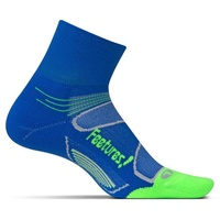 Feetures Elite | Light Cushion | Quarter length | Blue / Citron