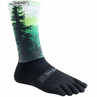 Injinji Trail 2.0 | Midweight | Crew length | SMALL ONLY | Spectrum - Forest