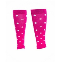Lily Trotters Compression Calf Sleeves | Dots-a-Plenty / Pink | Womens