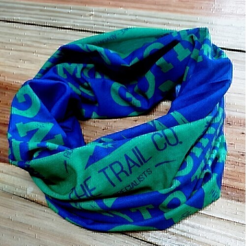 The Trail Co. Running Scarf | Blue & Green