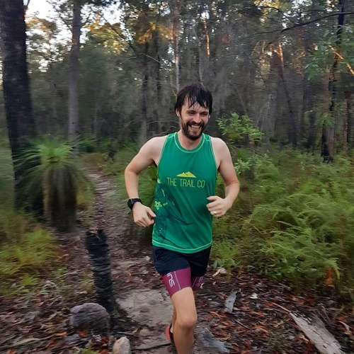 The Trail Co. Running Singlet | Grass Tree | Mens