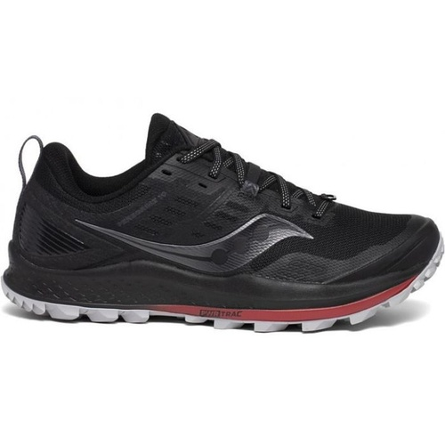 Saucony Peregrine 10 | Black / Red | Mens